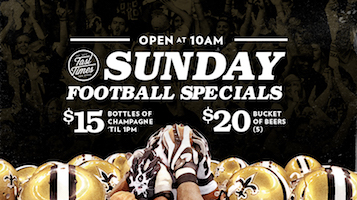 Sunday Football Specials